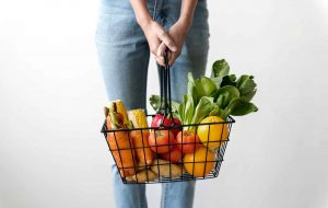 Low FODMAP Diet Basket of Food