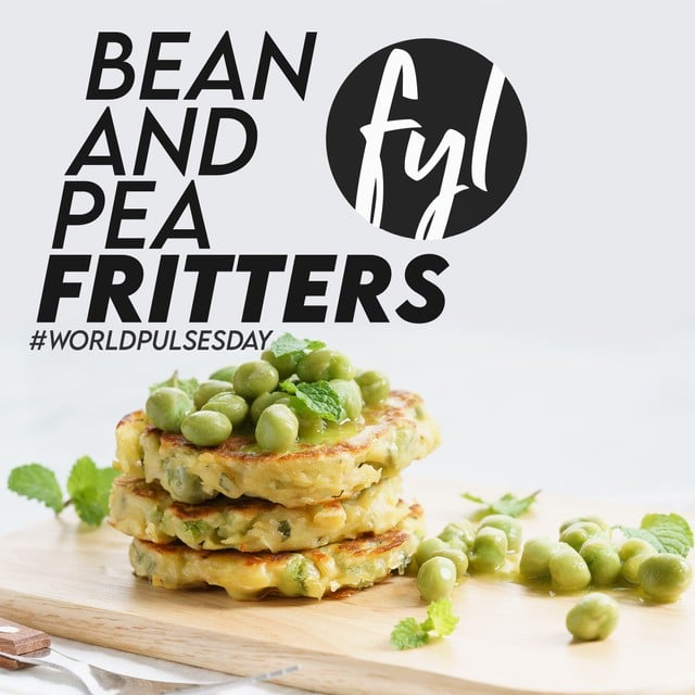 Recipe: Bean & Pea Fritters [World Pulses Day]